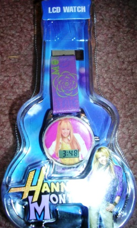 Hannah Montana LCD Watch Wristwatch Purple Band